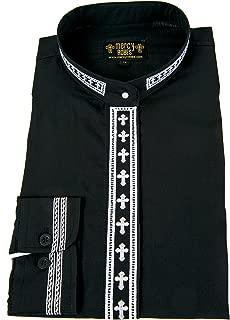 Mercy Robes Ladies Long Sleeve Neckband Clergy Shirt