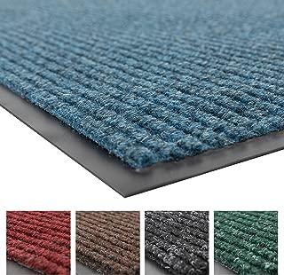 NoTrax Floor Matting 109 Brush Step Entrance Mat, for Home or Office, 4' X 8' Slate Blue