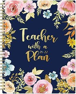 2021-2022 Teacher Planner - Teacher Planner for Academic Year 2021-2022, 8'' x 10'', July 2021 - June 2022, Lesson Plan Bo...
