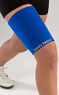 Body Helix Thigh Compression Sleeve - Full Thigh Helix Support Sleeves Wraps (Royal, Medium)