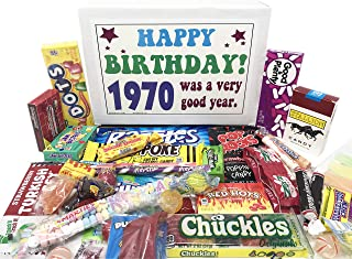 Woodstock Candy ~ 1970 50th Birthday Gifts for Women and Men Nostalgic Retro Candy Gift Mix from Childhood Born 1970 Jr