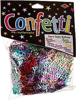 Beistle Multicolor Happy Birthday Script Cutout Plastic Confetti-1 Pack / .5oz