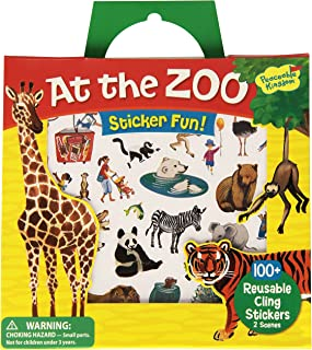 Peaceable Kingdom Press Sticker Fun! At The Zoo Reusable Sticker Tote