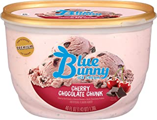 Blue Bunny Frozen Ice Cream, Cherry Chocolate Chunk, 46 Ounces