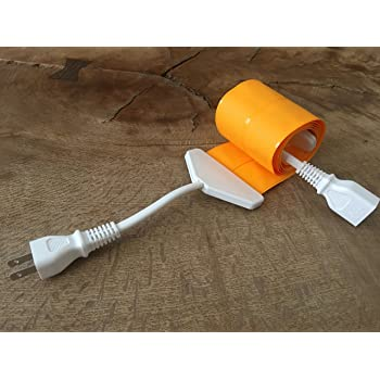 世界で一番薄い0.9mm 延長コード フラットコード flatcode 3m オレンジ×白