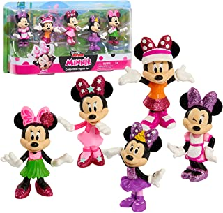 Minnie Mouse Disney Junior 3 Inch Tall Collectible Figure Set, 5 Piece Set Includes Tennis, Hula, Candy Maker, Popstar, an...