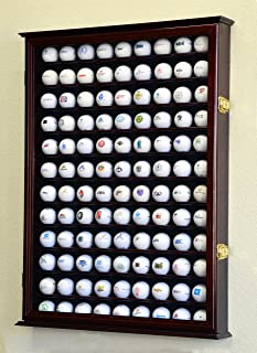 Golf Ball Display Case Holder Cabinet Wall Rack Stand Select Your Size 98% UV Lockable 5 Sizes 4 Colors to Choose