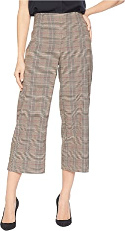Feminine Glen Plaid Straight Leg Pants