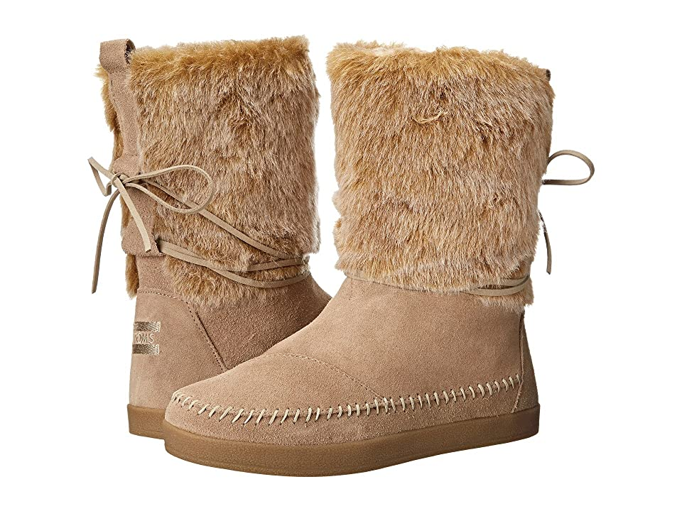 TOMS Nepal Boot (Oxford Tan Suede Faux Hair) Women