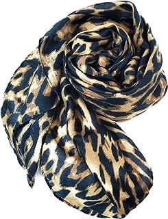 """Bellaselah Womens Leopard Print Scarf Soft Wrinkle-Free 70""""x35"""" (Brown-Black)"""