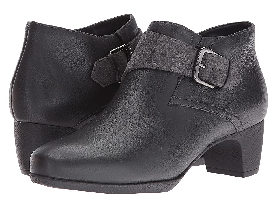 SoftWalk Imlay (Dark Grey Veg Tumbled Leather/Cow Suede) Women