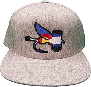 UNAMEIT Colorado Flag Fly Fishing Bait Embroidered Snapback Hat Fisherman