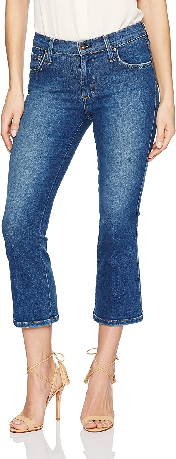 James Jeans Womens Cropped Boot Jean in Victory Jeans
