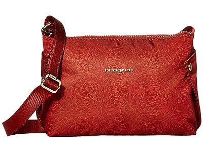Hedgren Triangular Small Crossbody (Rust Paisley Print) Cross Body Handbags