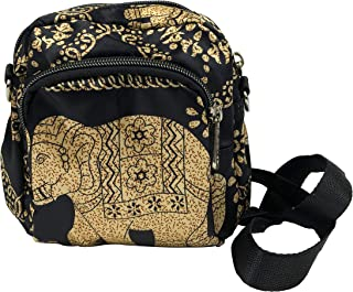 Boho Fanny Pack Elephant for Men&Women Unisex Belt Bum Bag, Bohemian Waist Pack Chest Crossbody Bag for Festival Rave Travel Hiking