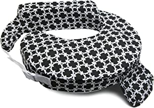 My Brest Friend Inflatable Travel Nursing Pillow - Maternity Breastfeeding Support, Black & White Marina Paisley