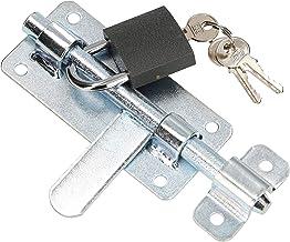 KOTARBAU® Deurklink 150 mm verzinkt met robuust hangslot zilver universeel