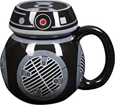 Star Wars : The Last Jedi BB-9E Coffee Mug - Ceramic Figural Mug with Lid - 16 oz