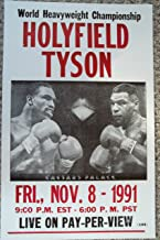 Holyfield Vs Tyson World Heavyweight Championship Poster
