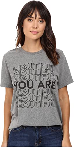 Life is Beautiful - Beautiful Stack - Crew Neck Tee