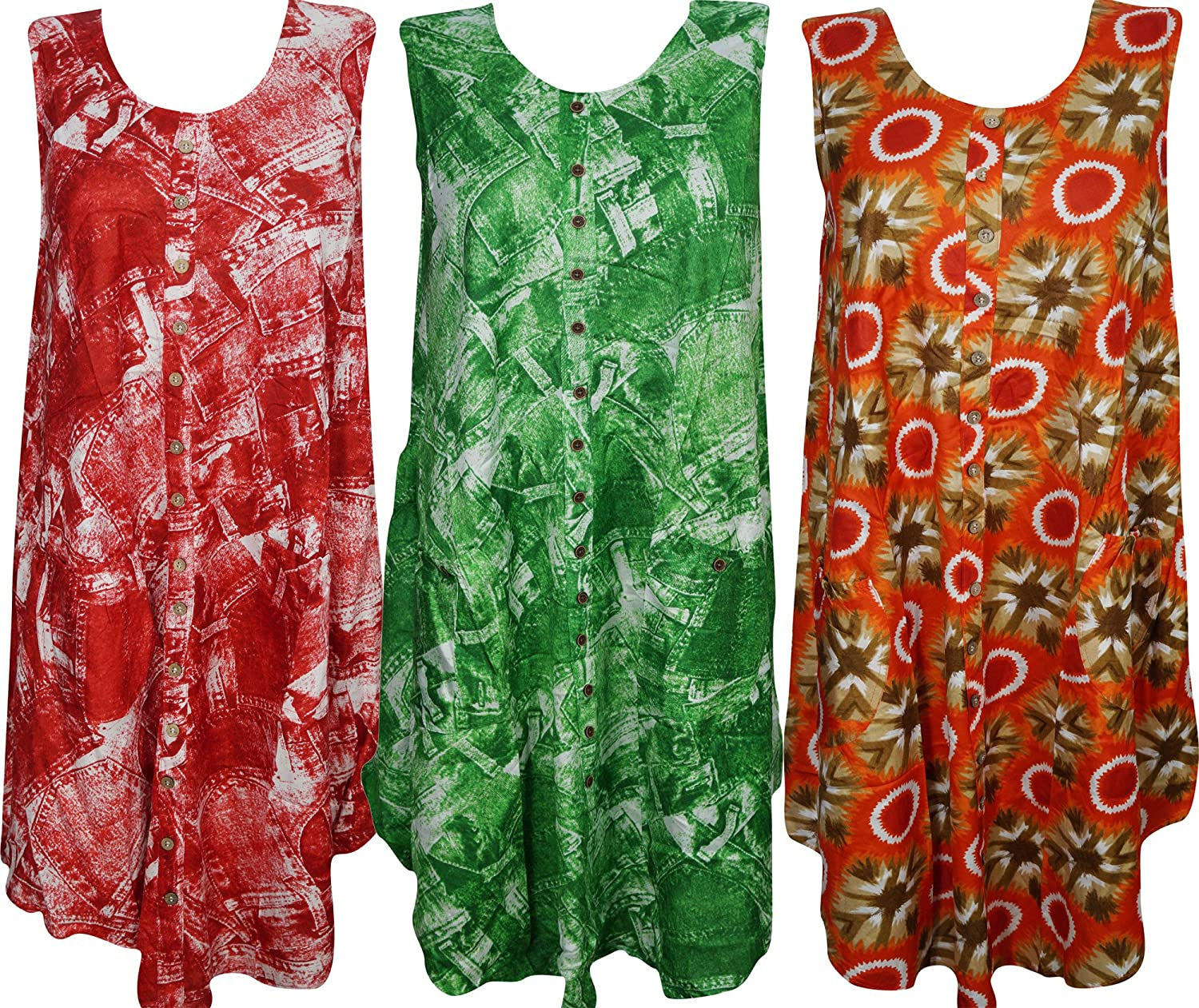 Womens Tank Dress Front Button Once Upon A Dream Beach SunDress Wholesale Lot Of 3 M