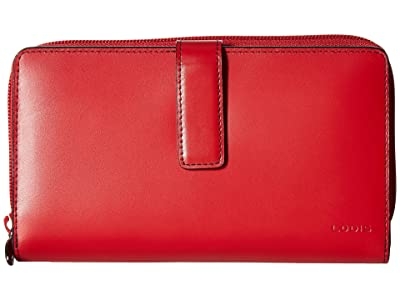 Lodis Accessories Audrey RFID Deluxe Checkbook Clutch (Red RFID) Checkbook Wallet