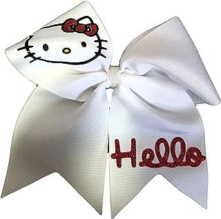 Cheer bows white Hello Kitty Hair Bow