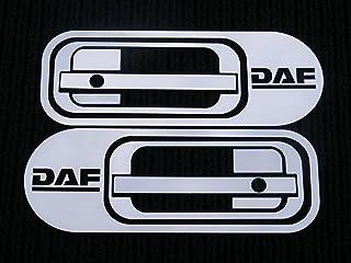 2 Set polierter Edelstahl Tür Griff Panel Dekorationen für DAF XF 95/105Trucks