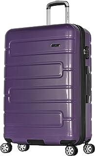 "Olympia Nema 29"" Exp. Large-Size PC Hardcase Spinner w/TSA Lock, PURPLE, 29 inch"