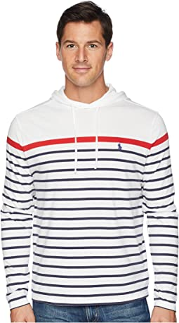 Striped Pullover Hooded T-Shirt