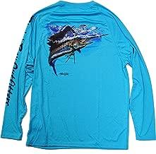 Bimini Bay Outfitters Men's Hook'M Performance Graphic Long Sleeve Shirt
