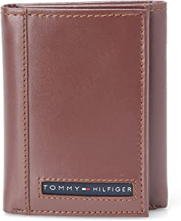 Tommy Hilfiger 31TL11X033-251 Cambridge Trifold Wallet for Men - Leather, Tan