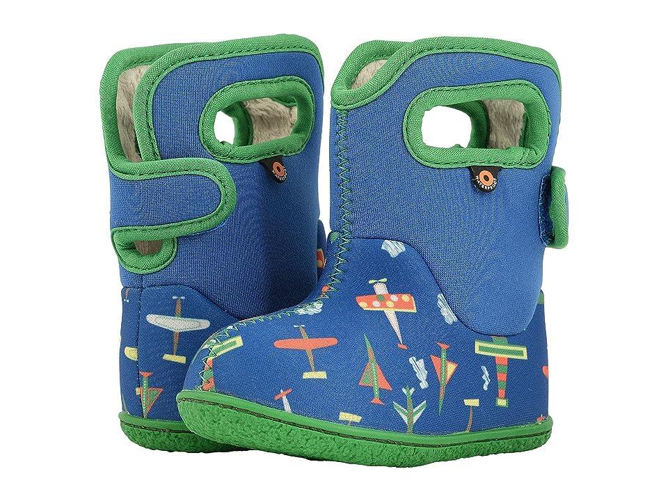 Bogs Kids Baby Bogs Planes (Toddler) (Blue Multi) Boy