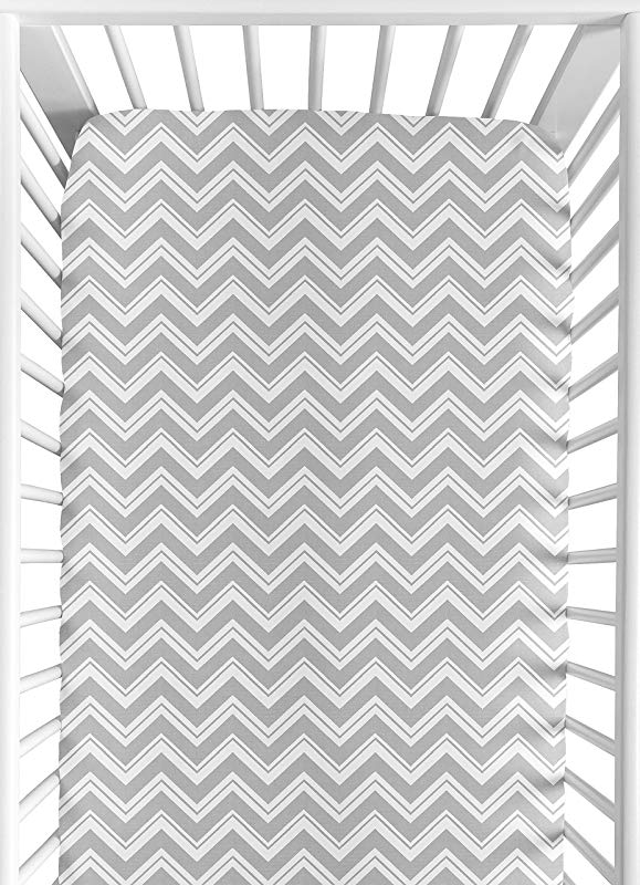 Sweet Jojo Designs Fitted Crib Sheet For Turquoise And Gray Chevron Zig Zag Baby Toddler Bedding Chevron Zig Zag Print