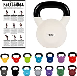MSPORTS Kettlebell Professionale 2-30 kg | Ghisa Revestimento in Neoprene | incl. Workout PDF | Diversi Colori