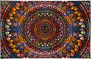 Sunshine Joy 3D Rainbow Cat Mini Tapestry Tie Dye Kitty Mandala Wall Hanging Fabric Poster 30x45 Inches