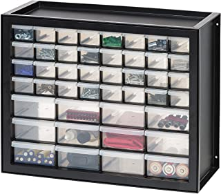 IRIS USA, Inc DPC-44 44 Drawer Parts And Hardware Cabinet, 19.5 Inch By 15.5 Inch By 7 Inch, Black