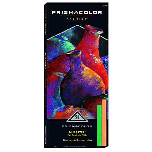 Prismacolor 27049 Premier NuPastel Firm Pastel Color Sticks, 24-Count