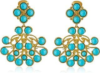 large turquoise chandelier earrings