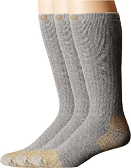 Full Cushion Steel Toe Cotton Work Boot Socks 2-Pack
