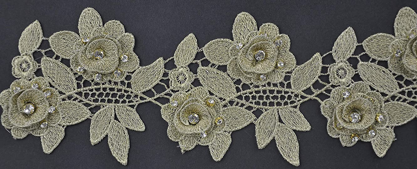 Lace with Rhinestone Gold BFT-1203-10