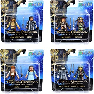 Pirates of the Caribbean Minimates Dead Men Tell No Tales Complete Set of Four 2-Packs