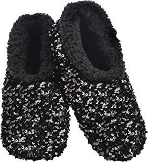 Slumbies! Womens Slippers - House Slippers for Women - Fuzzy, Fluffy Slippers for Ladies - Sequin Glam