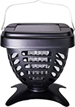 RIDDEX Solar Powered Bug and Mosquito Zapper Insect Killer - Portable for Camping BBQ's or for Your Yard