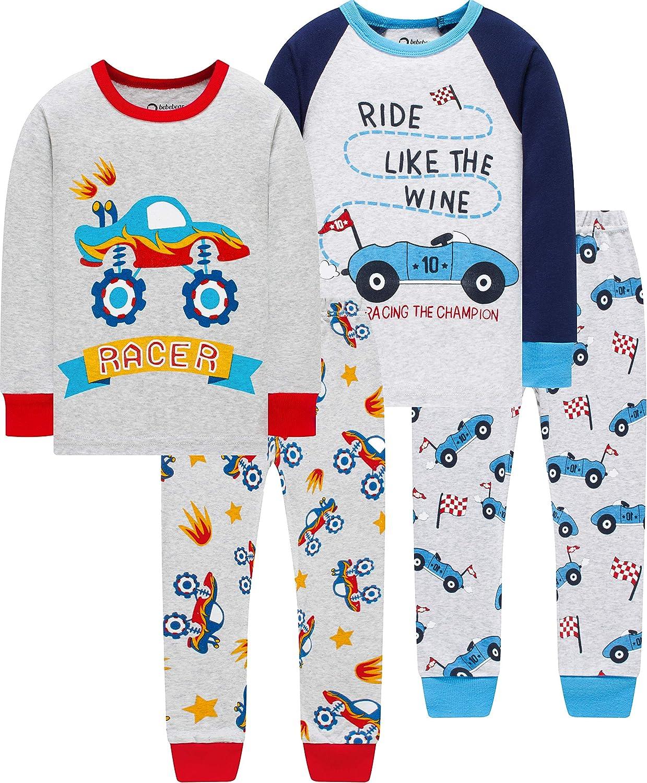 Pajamas For Boys Christmas Baby Truk Clothes Kid Children Pants Set 4 Pieces Sleepwear