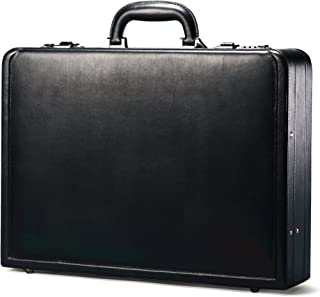 Bonded Leather Attache, Black