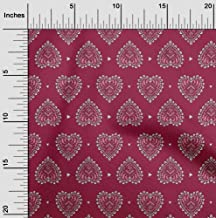oneOone Viscose Chiffon Fabric Floral Block Printed Craft Fabric by The Meter 42 Inch Wide