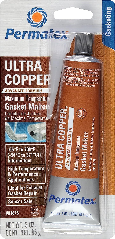 low-pricing Permatex 81878-12PK Ultra Copper RTV Silicon Cheap mail order shopping Temperature Maximum