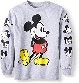 3fcc11d4157 Disney Mickey Mouse Little Boys Long Sleeve Graphic T Shirt