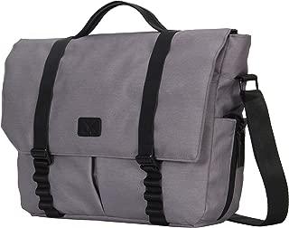 Hynes Eagle Unisex Laptop Messenger Bag Crossbody Shoulder Bag 14 inch Light Gray